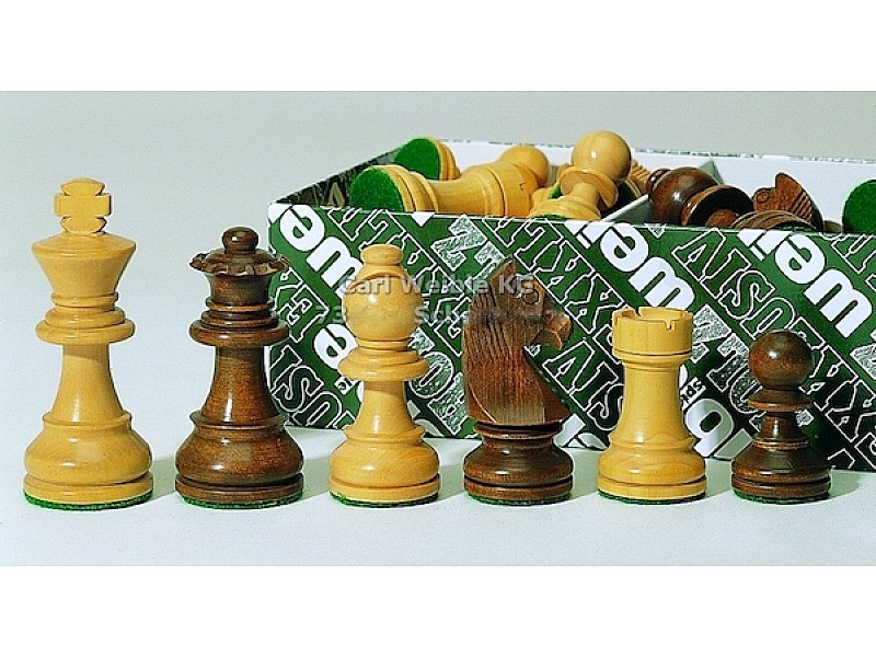 Γερμανικά staunton σέτ πιόνια για σκάκι χωρίς βάρος με ύψος βασιλιά 7 εκ.