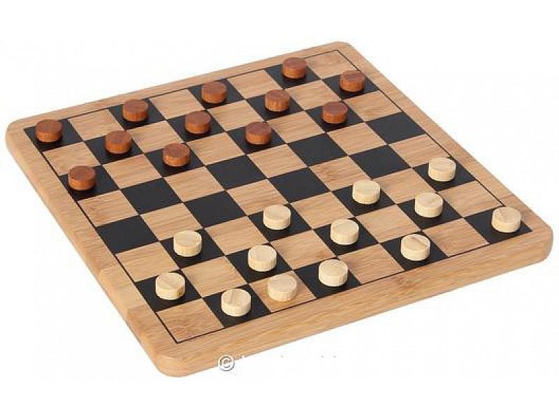 Σκακιέρα - ντάμα & τάβλι απο μπαμπού ξύλινη