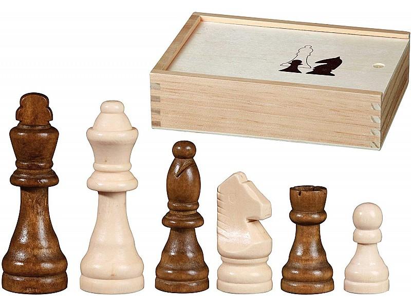 Ξύλινη σκακιέρα σπαστή 50 Χ 50 εκ. μαζί με σέτ ξύλινα πιόνια  και τσόχα στην βάση και με ύψος βασιλιά 10 εκ. με κασετίνα