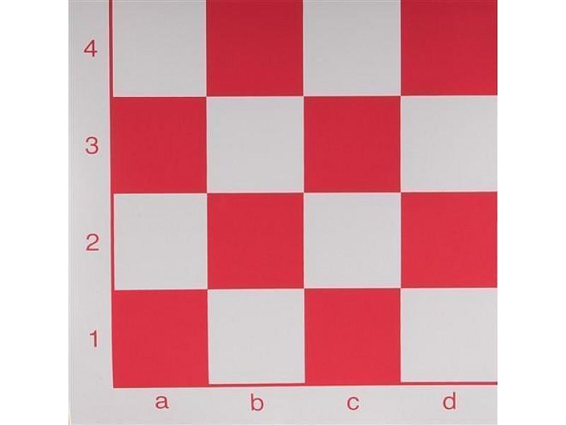 Σκακιέρα βινυλίου κόκκινη 50X50 εκ.