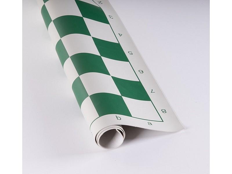 Σκακιέρα βινυλίου πράσινη 50 Χ 50  μαζί με πλαστικά πιόνια (με βάρος) με ύψος βασιλιά 9.5 εκ.+  Χρονόμετρο DGT 1001