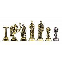 Ατλας  μεταλλικά πιόνια σκάκι (σέτ) , ύψος βασιλιά 5.3 εκ.