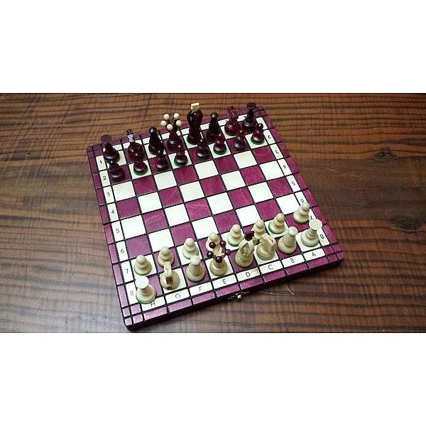 Σκάκι ταξιδίου ξύλινο cherry