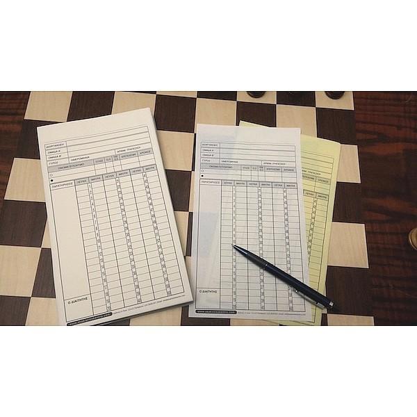 Μπλόκ παρτιδόφυλλα για σκάκι (100 διπλότυπα για παρτίδες)