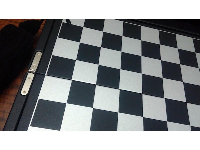 Σετ σκάκι σπαστό ταξιδίου βαλίτσακι Δερματίνη