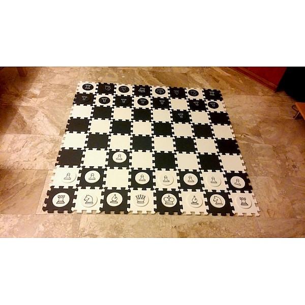Σκάκι κήπου - Σκακιέρα & πιόνια απο ειδικό αφρώδες υλικό