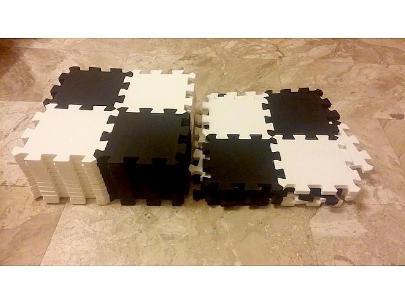 Σκακιέρα & πιόνια απο ειδικό αφρώδες υλικό