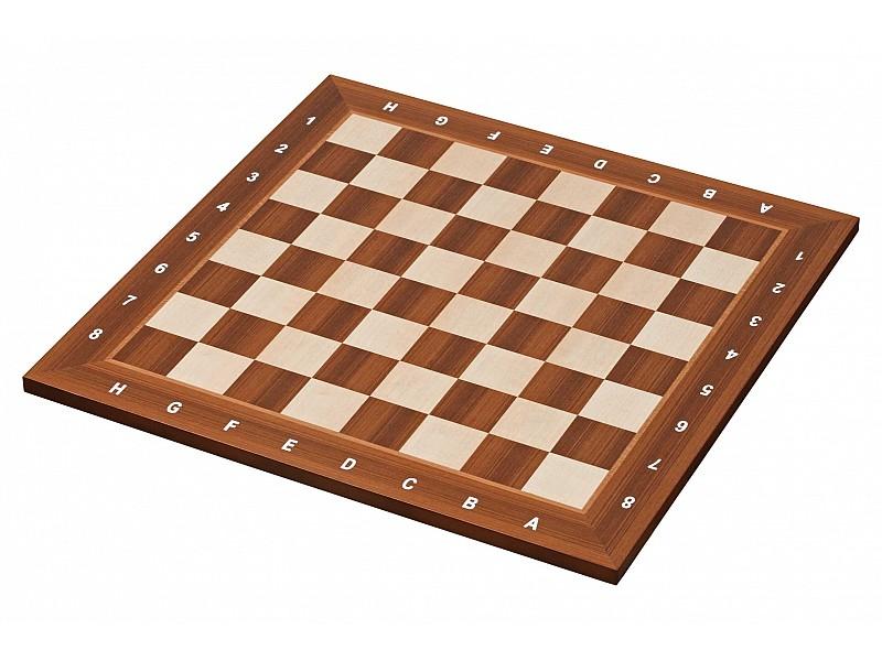 Σκακιέρα ξύλινη καρυδιά πλακέτα 41 Χ 41 εκ.  (με συντεταγμένες)