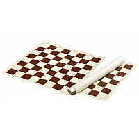 Σκακιέρα βινυλίου καφέ 55X55 εκ.