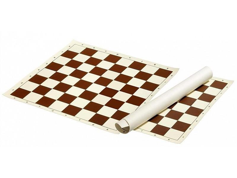 Σκακιέρα βινυλίου καφέ 41X41 εκ.