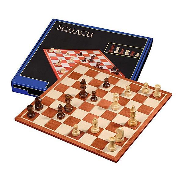 Σκακιέρα με ξύλινα πιόνια  με ύψος Βασιλιά 7.5 εκ.