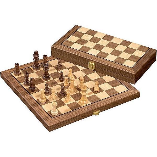 Ξύλινη σκακιέρα Sanden tampa 30.5 εκ.  Χ 15.2 εκ X 4.2. εκ. με ξύλινα πιόνια