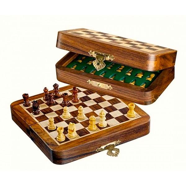 Σκάκι ταξιδίου μαγνητικό ξύλινο