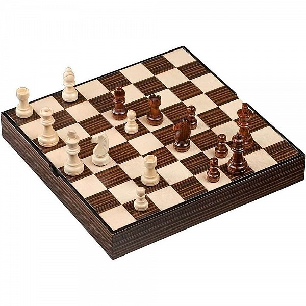 Μαγνητικό ολοκληρωμένο σετ σκάκι deluxe κουτί, διάσταση 28 Χ 28 εκ, διάσταση τετραγώνου 3.4 εκ