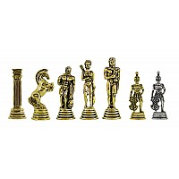 Πολεμιστές  μεταλλικά πιόνια σκάκι (σέτ) , ύψος βασιλιά 6.5 εκ.