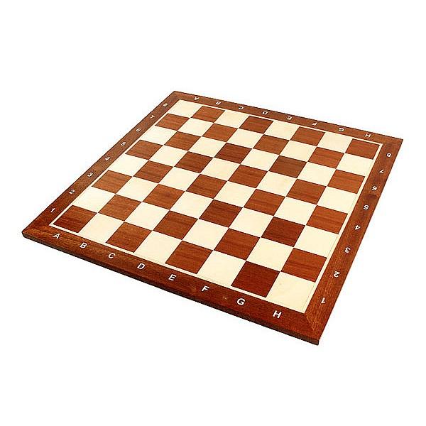 Σκακιέρα ξύλινη μαόνι σε πλακέτα 44 Χ 44 εκ. (με συντεταγμένες)