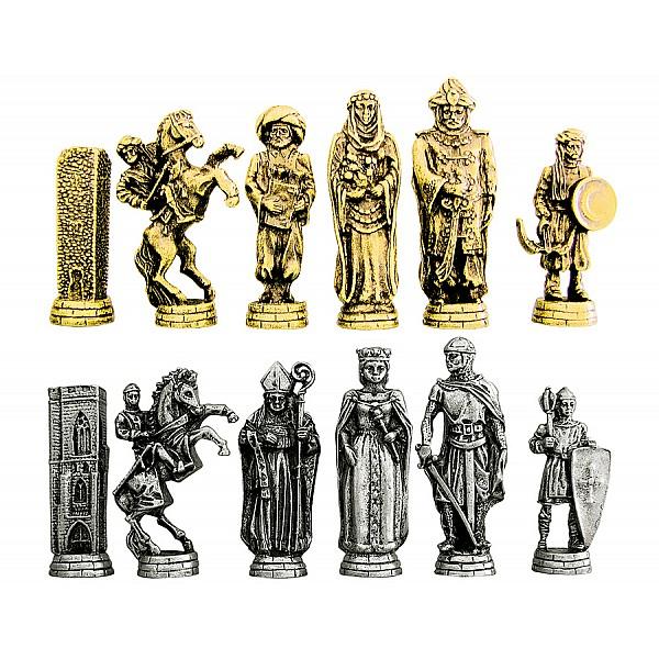 Ελ Σίντ  μεταλλικά πιόνια για σκάκι (σέτ) , ύψος βασιλιά 8.1 εκ.