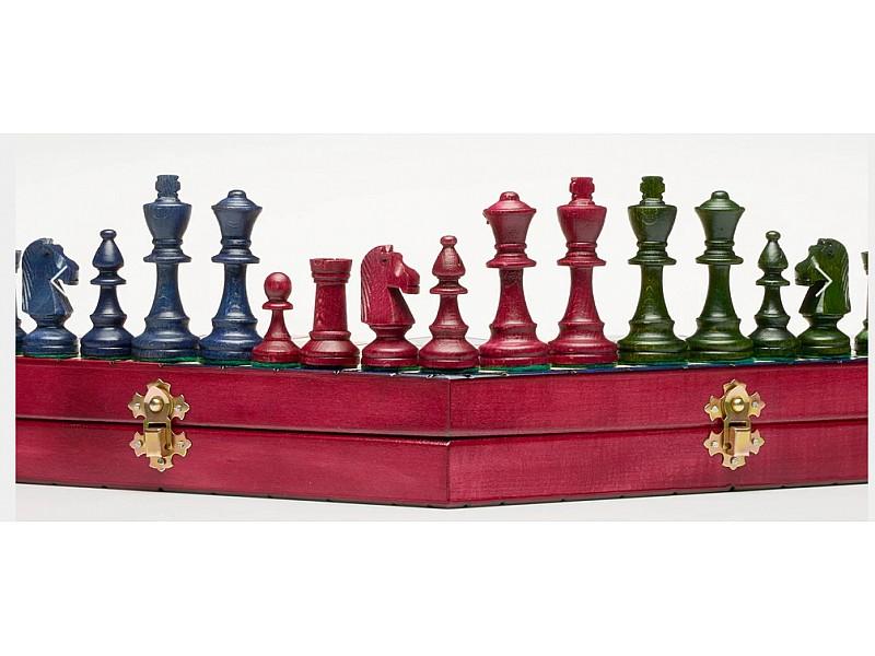 Σκάκι για τρείς παίκτες (μεγάλο) τρίχρωμο
