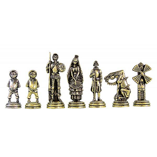 Δον Κιχώτης μεταλλικά πιόνια σκάκι (σέτ) , ύψος βασιλιά 9.8 εκ.