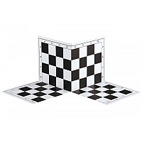 Σπαστή σκακιέρα στα τέσσερα  44 Χ 44 εκ. μαύρη