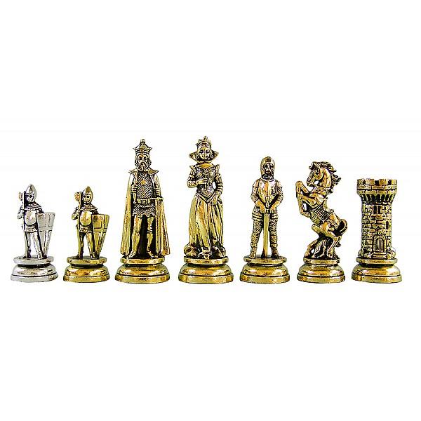 Μαρία Στιούαρτ μεταλλικά πιόνια σκάκι (σέτ) , ύψος βασιλιά 10.11 εκ.