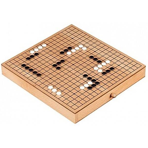 Go παιχνίδι σε ξύλινο κουτί με συρτάρι (ολοκληρωμένο σετ)