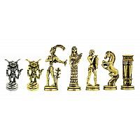 Μινόταυρος μεταλλικά πιόνια σκάκι (σέτ) , ύψος βασιλιά 7 εκ.
