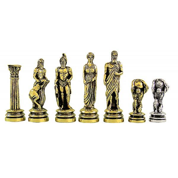 Άτλας μεταλλικά πιόνια σκάκι (σέτ) , ύψος βασιλιά 10.11 εκ.