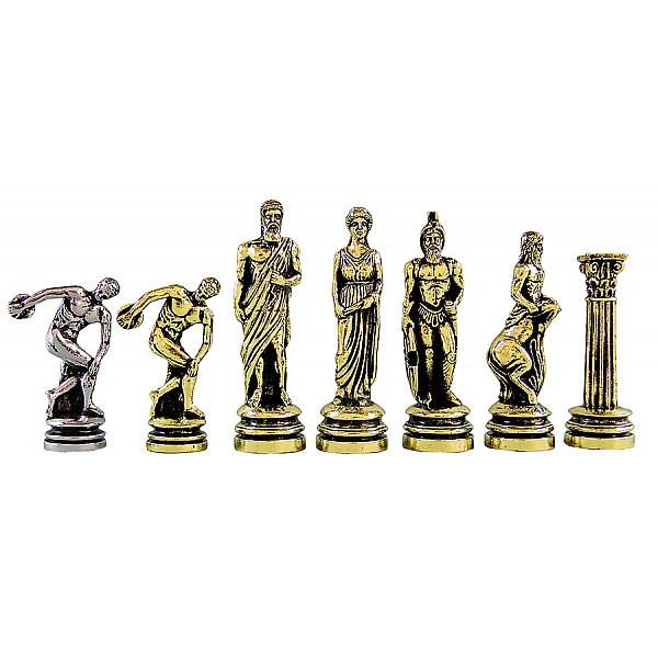 Δισκοβόλος  μεταλλικά πιόνια σκάκι (σέτ) , ύψος βασιλιά 10.11 εκ.