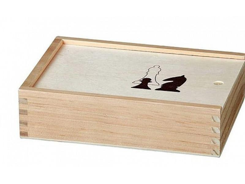 Ξύλινη σκακιέρα 40 Χ 40 εκ. μαζί με ένα σέτ ξύλινα πιόνια 7.60 εκ. και ξύλινη κασετίνα