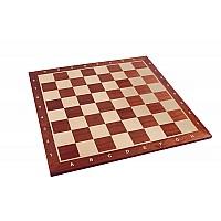 Σκακιέρα ξύλινη μαόνι σε πλακέτα  Giant deluxe 59 Χ 59 εκ. - 6.4 εκ.καρέ ( με συντεταγμένες)