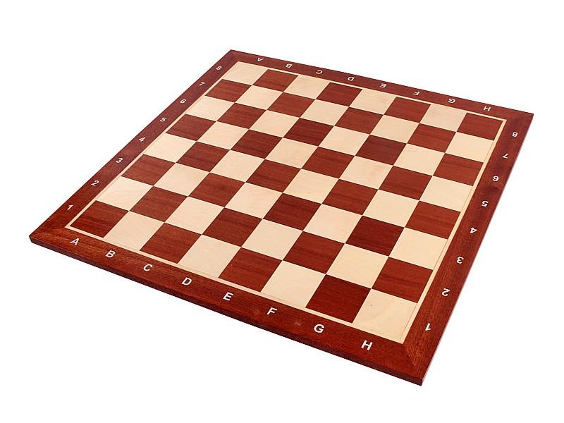 Σκακιέρα μαόνι σε πλακέτα  Giant deluxe 59 Χ 59 εκ. - 6.4 εκ.καρέ ( με συντεταγμένες)