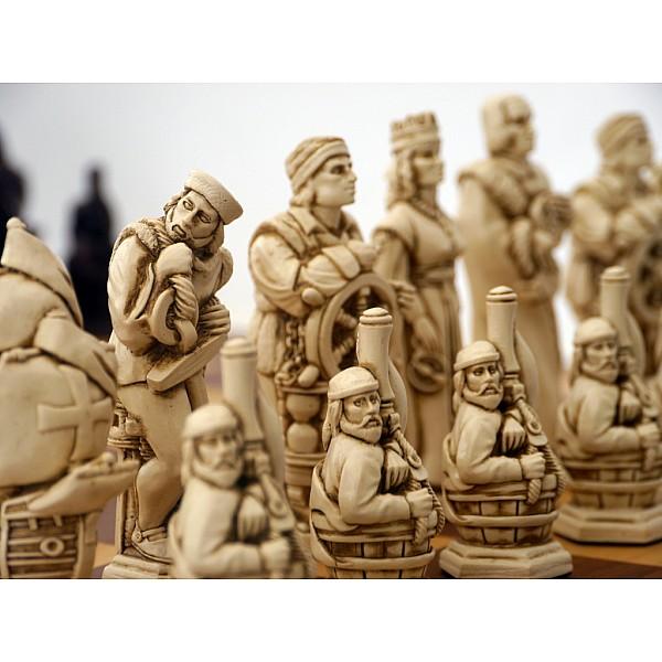 Χριστόφορος Κολόμβος εκστρατεία,  θεματικά πιόνια  (Χρώμα: μώβ  - εκρού)