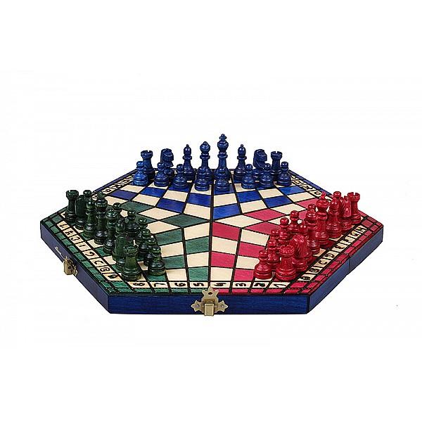 Σκάκι για τρείς παίκτες (μικρό) τρίχρωμο