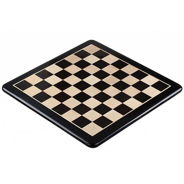 Σκακιέρα ξύλινη έβενος με οβάλ γωνιές (χωρίς συντεταγμένες) - 5.8 εκ. τετραγώνο