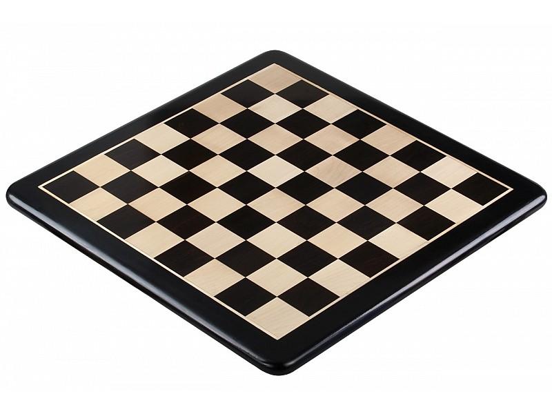 Σκακιέρα ξύλινη έβενος με οβάλ γωνιές (χωρίς συντεταγμένες) - 5.5 εκ. τετραγώνο