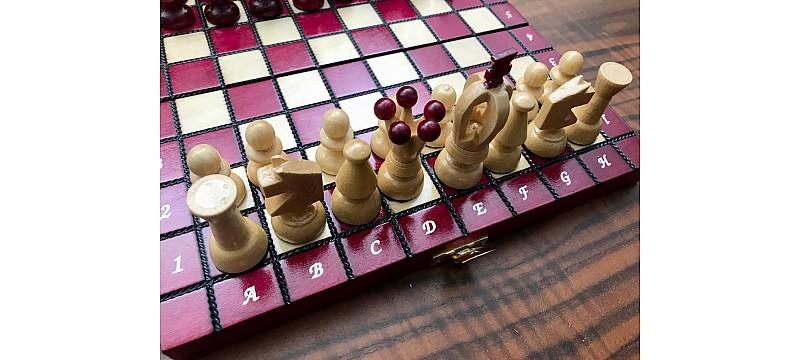 Σκάκι ταξιδίου ξύλινα glossy (γυαλιστερά) απλά