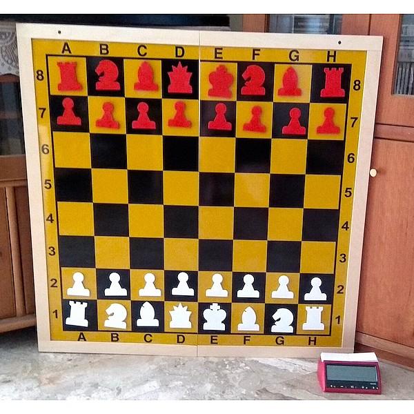 Εκπαιδευτική μαγνητική σκακιέρα γίγας 85 Χ 85 εκ.