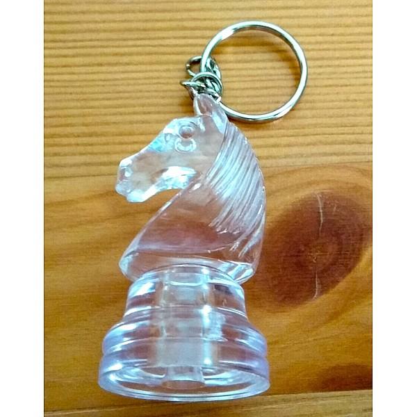 Μπρελόκ άλογο amber white