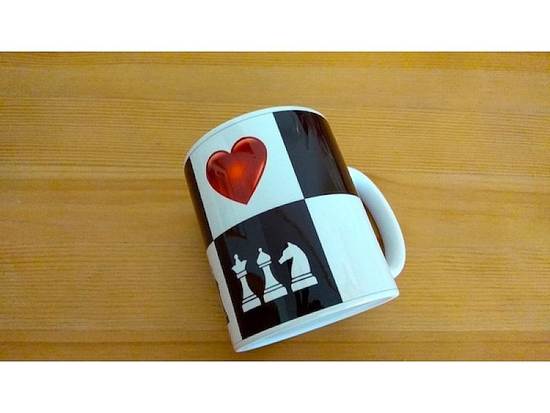 """Κούπα καφέ  """"heart of chess"""""""