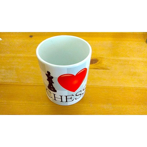 """Κούπα καφέ """"I love chess"""""""