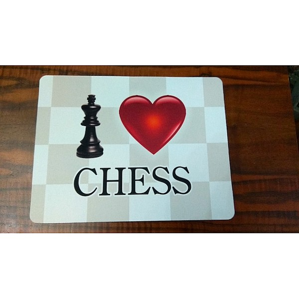 "Mouse pad με θέμα "" I love chess """