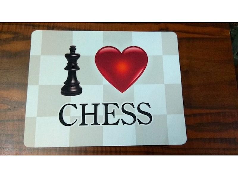 "Mouse pad με θέμα "" I love chess """