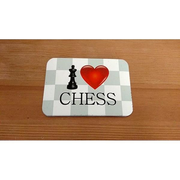 """Ψυγείου μαγνήτης με θέμα """"I love chess"""""""