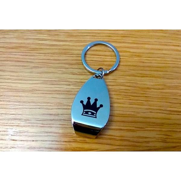 """Μεταλλικό μπρελόκ για κλειδιά - ανοιχτήρι με θέμα """"Βασιλισσα"""""""