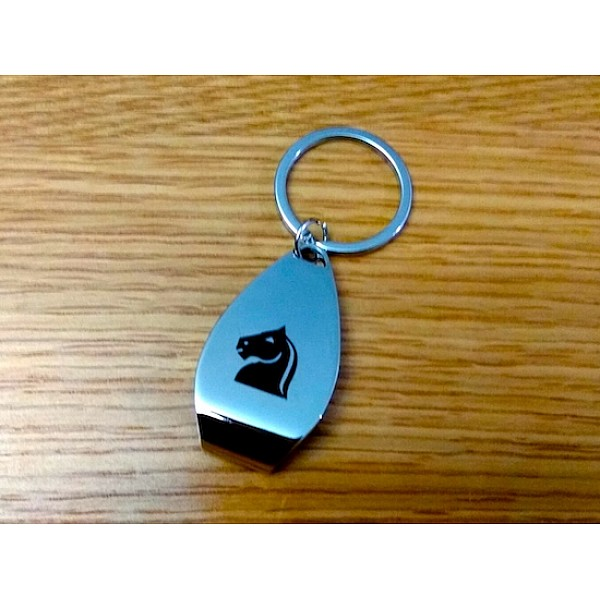 """Μεταλλικό μπρελόκ για κλειδιά - ανοιχτήρι με θέμα """"Αλογο"""""""