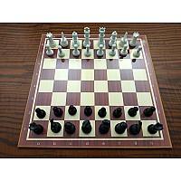 Ξύλινη σκακιέρα σπαστή 40 Χ 40 εκ. μαζί με πλαστικά πιόνια
