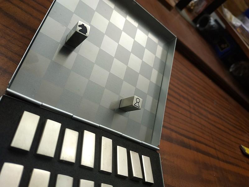 Σκάκι σετ αλουμινίου μαγνητικά art deco