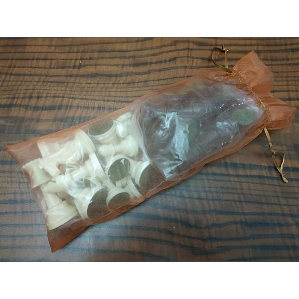 Διάφανο πουγκί αποθήκευσης καφέ οργάντζα 35 Χ 14 εκ. για σέτ πιόνια 9.5 εκ. ύψος βααιλιά