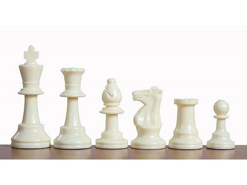 Πλαστικά πιόνια για σκάκι  9.5 εκ. (με τσόχα, και έξτρα βάρος)